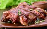 Свиные ребрышки с медом на гриле — рецепт с фото