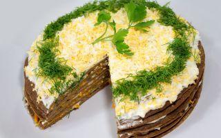 Печеночный торт – рецепт из куриной печени с фото пошагово