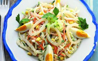 Салат с кальмарами и яйцом: как приготовить вкусные и простые рецепты