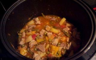 Свинина с овощами в мультиварке:рецепты яхнии, рагу и жаркого