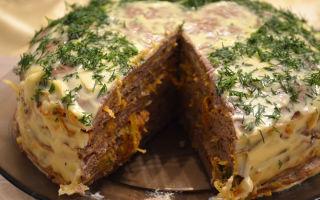 Печеночный торт из говяжьей печени – пошаговый рецепт приготовления с фото