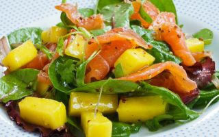 Салат с манго: рецепты с консервированным и свежим фруктом