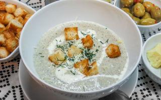 Крем-суп из шампиньонов со сливками: разные варианты рецептов