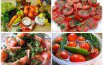 Закуска из помидоров с чесноком и зеленью быстрого приготовления: рецепт соленой закуски