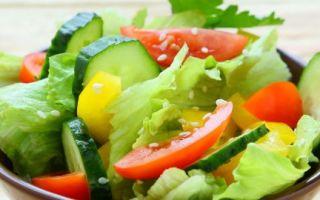 Овощной салат – дачная кулинария