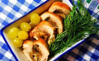 Куриные рулетики из филе грудки или бедрышек с начинкой