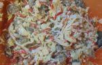 Салат с жареными крабовыми палочками и грибами и ещё 6 рецептов