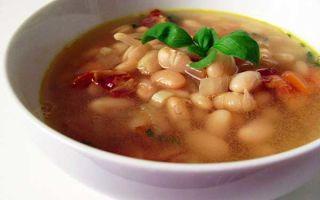 Суп фасолевый постный: рецепт с красной или белой фасолью